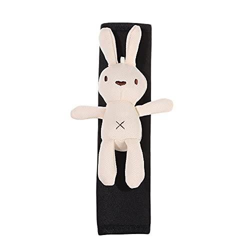 2 unids Dibujos animados Seguridad Cinturón Protector Creatividad Lindo Bear Soft Dog Dibujos Animados Hombro Guardia Hombro Universal Coche Accesorios Auto Interior ( Color Name : Rabbit Beige )
