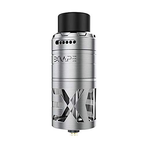 eXvape eXpromizer TCX RDTA Tank Clearomizer 7 ml, Durchmesser 25 mm, Top Coiler, Verdampfer für e-Zigarette, brushed silver