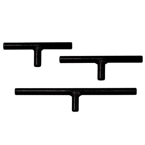 PSI Woodworking CLTSET58 Straight Bar 3pc Toolrest Set, 5/8' Diameter Post (15.875mm)