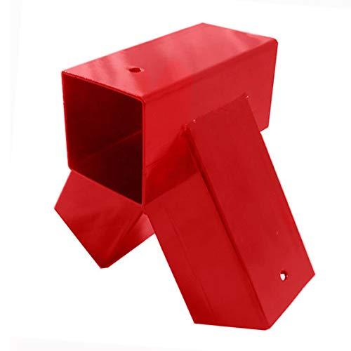 Schaukelverbinder rot, für Kantholz 9x9 cm, lose