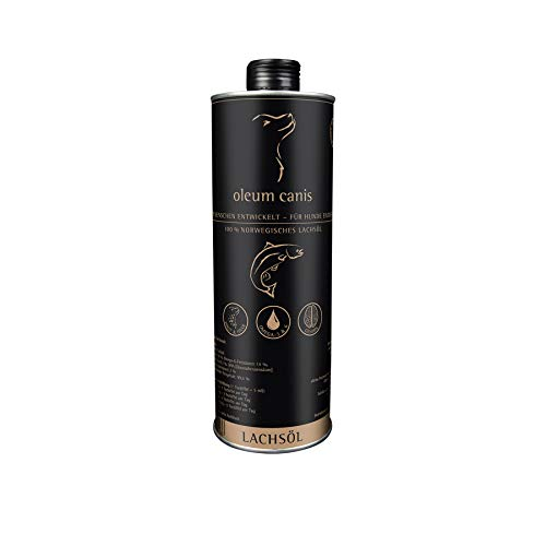 GranataPet Oleum Canis Lachsöl, Nahrungsergänzung für Hunde, schmackhaftes Lachsöl mit Omega-3 & Omega-6-Fettsäuren, 1 l