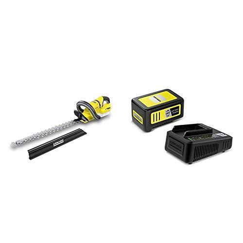 Kärcher Cortasetos HGE 18-50 Battery 2.700 rpm, 325 m2 (sin batería) (1.444-240.0) + Kärcher Cargador Rápido y Batería 18 V - 5,00 Ah (2.445-063.0)