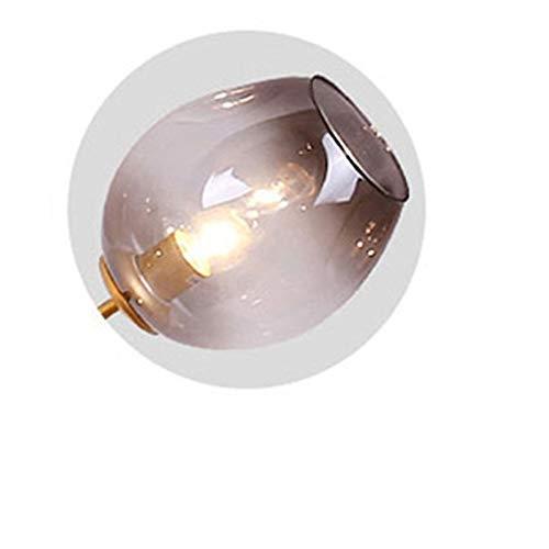 Lámpara colgante Cristal Luz pendiente moderna originalidad dormitorio lámpara colgante Simplicidad Personalidad restaurante accesorios de iluminación Candelabro ( Body Color : Gris , Size : Bulb )