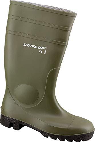 Dunlop Acifort Dunlop Protomaster Full Safety Gummistiefel,Arbeitsstiefel,Regenstiefel,Gartenstiefel, Oliv, 48 EU