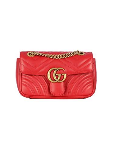 Gucci Luxury Fashion Donna 446744DTDIT6433 Rosso Pelle Borsa A Spalla...