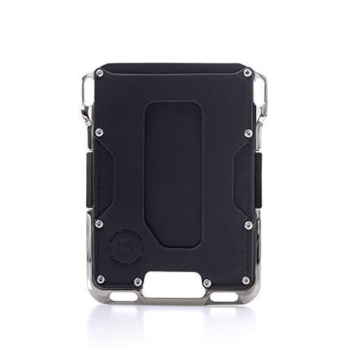 Dango M2 Maverick Geldbörse, vernickeltes CNC-gefrästes Aluminium, RFID-blockierend, Made in USA