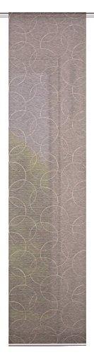 Home Fashion 084/633–4007245x 0060Panel japonés Bordado Oscar, plástico, Piedra, 245x 60cm