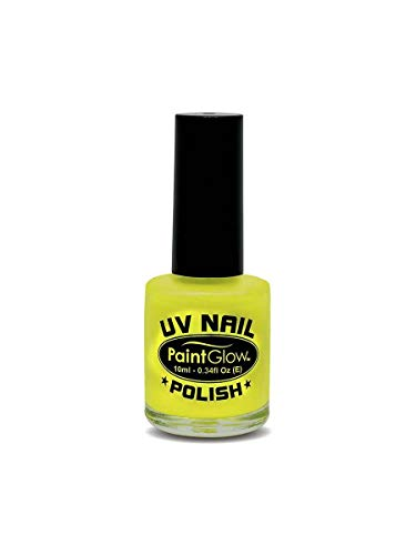 Smiffy's - Pintaúñas UV 10 ml, color amarillo fluorescente (46023)