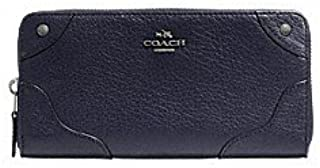 Grain Leather Mickie Accordian Zip Wallet Clutch - #F52645