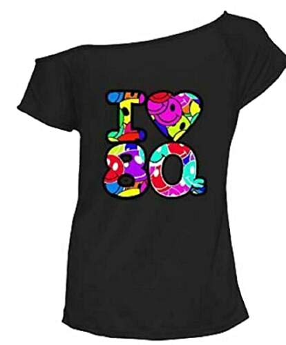 Women's I Love the 80s Batwing Sleeve T-shirt, S to 3XL