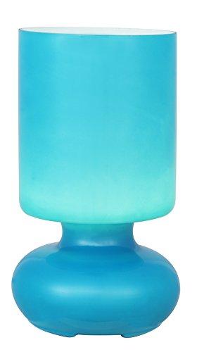 Brilliant fuerte de mesa, 1 x E14 Potencia máxima de 40 W, protector de pantalla de cristal, colour azul turquesa 92975/03