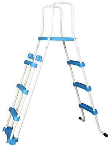 Well2wellness® Escalerilla para Piscina Piscina Escalera - 3-stufig con Plataforma 180/122 cm (024290)
