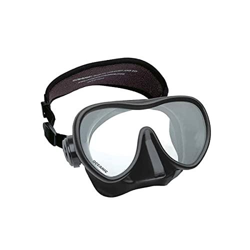 Oceanic Mini Shadow Maske, schwarz, mit kleinem Silikonkörper für schmale Gesichter