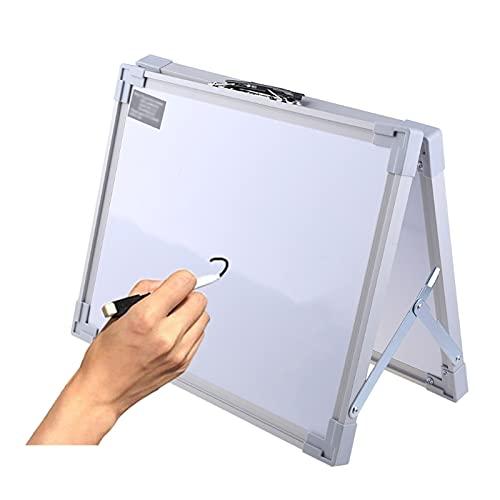 JKXWX Pizarron Doble Cara Plegable magnética con Soporte for Pizarra de Pizarra Seca Tablero Blanco Marcador Escritura Registro Mensaje Pad niño Regalo Pizarra Blanca