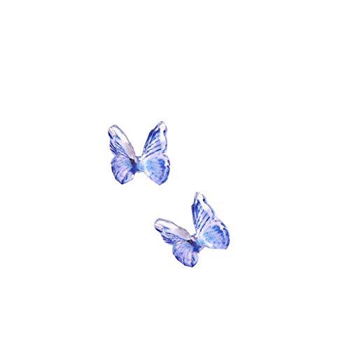 LILICAT 2pcs Ensemble de Paillettes à Ongles 3D Autocollants Nail Art Papillon Décalques Paillettes Paillettes Holographiques Sparkle Glitter,Nail Autocollant Stickers Ongles Forme Fleur Papillon