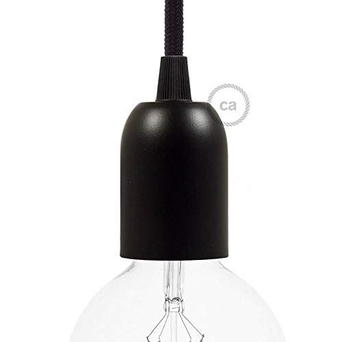 creative cables Douille E14 Lisse en mat/ériel thermoplastique Couleur Noir