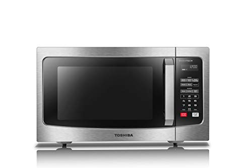 Toshiba ML-EM45PIT(SS) Microwave Oven with Inverter Technology, LCD Display and Smart Sensor, 1.6 Cu.ft, Stainless Steel (Renewed)