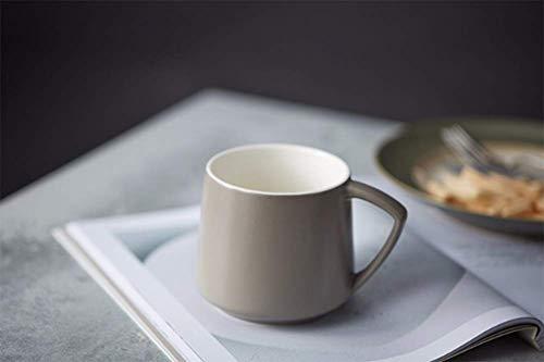 Aida Bz Einfache Keramikbecher Große Kapazität Kreativ Ins Einfache Paar Tasse Kaffeetasse,Gray