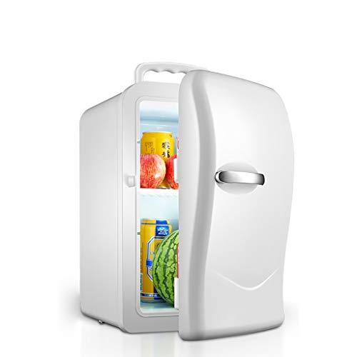 Mini frigoríficos de 20 litros, refrigerador pequeño, refrigerador pequeño, refrigerador pequeño para automóvil Hogar pequeño Refrigeración de una Puerta Mini Dormitorio estudiantil Dos Mundos (blan