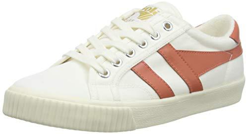 Gola Tennis Mark Cox, Zapatillas Mujer, Coral Caliente Blanco Hueso, 40 EU
