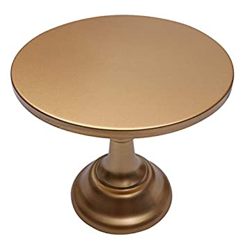 NUOBESTY Metal Cake Stand Round Cupcake Stands Party Dessert Cupcake Pedestal Display Plate for Banquet Wedding Shower Party Rose Gold