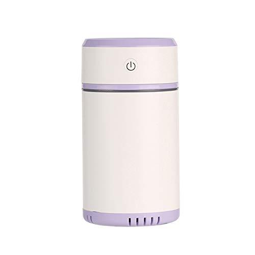 WETERS Luftreiniger, Ziehen Minibefeuchter Ätherisches Öl Diffuser Aroma-Lampe LED-Nachtlicht USB Ultraschall-Fogger Auto Lufterfrischer,Lila