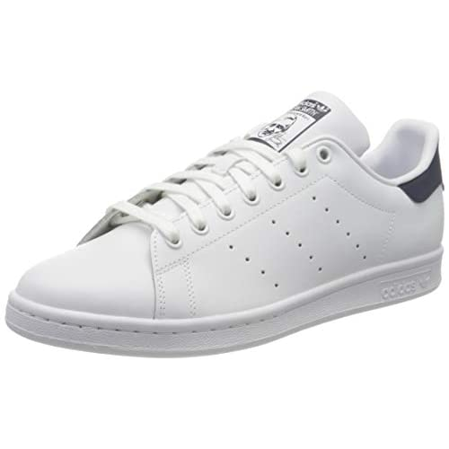 adidas Originals, Stan Smith, Sneakers, Unisex - Adulto, Bianco (Core White/Dark Blue), 38 EU