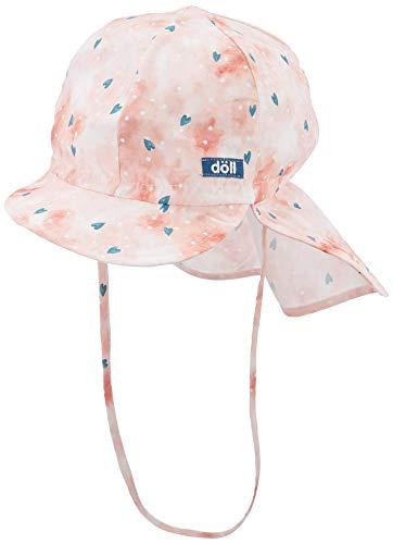 Döll Mädchen Bindemütze mit Schirm und Nackenschutz Mütze, Rosa (Pink Lemonade...