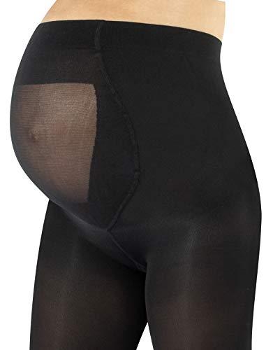 CALZITALY Medias Invernales Premama | Panty Para Futura Mama | 100 DEN | Negro, Amarillo, Naranja, Verde, Rosa | S, M, L, XL | Calcetería Italiana | (M, Negro)