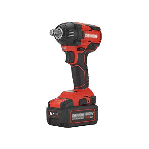 LKNJLL Impact Wrench,21V Li-Ion Cordless Impact Wrench Kit Brushless Motor 300N.m Max Torque, 0-3000RPM Variable Speed & 6Pcs Sockets