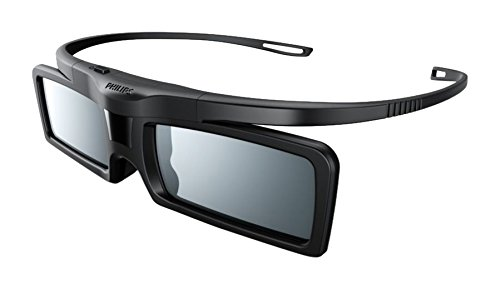 Philips Active3D-Brille PTA529/00 - Steroskopische 3-D Brillen (Lithium, CR2032, 147 x 155 x 40 mm, 22 g, 160 x 64 x 40 mm, 1 Stück(e))