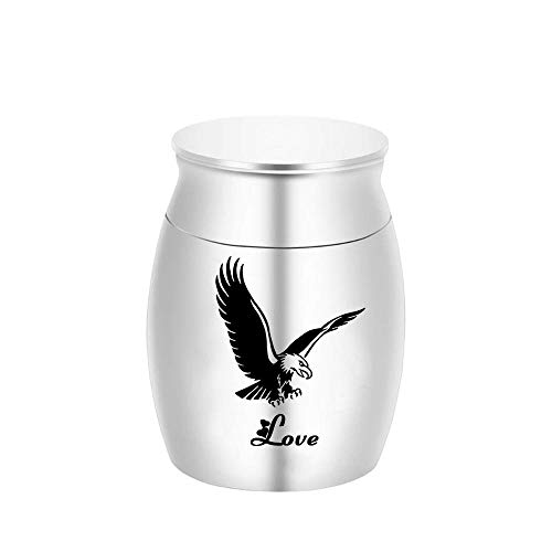 DXQH Cremation Urns For Ashes Male Eagle Spreads Its Wings Small Keepsake Urns For Human Ashes Hero Mini Cremation Urns Metal Pet Ashes Holder