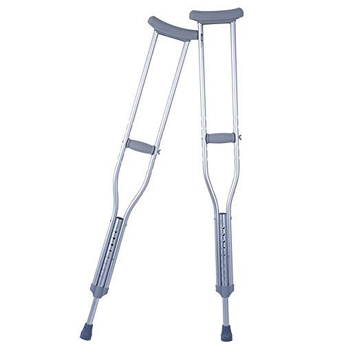 YEESEU Aleación de Aluminio Gruesas bajo los Brazos Muletas Ajustable Walker Dos Antideslizante Sticks Altura retráctil a pie Antideslizante bastón con el Hospital