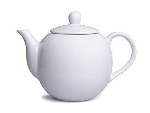 Schöne weiße Porzellan Teekanne ca. 1,0 Ltr. (Z188)