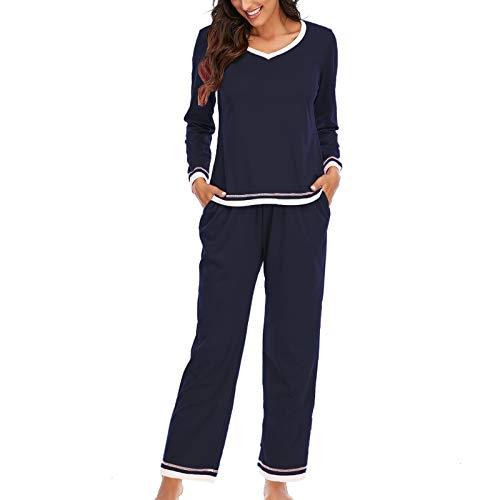 Hiver Pyjamas Set, YUYOUG Les Pyjamas à Haute Couleur Pure Teneur de Lâche de Salon de Vêtements à la Maison des Femmes Portent des Vêtements de Nuit