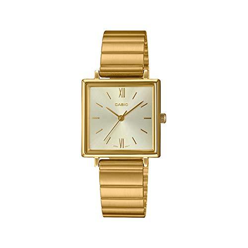 Casio Ltp-e155g-9ad Reloj Analógico para Mujer Caja De Acero Inoxidable Esfera Color Gold