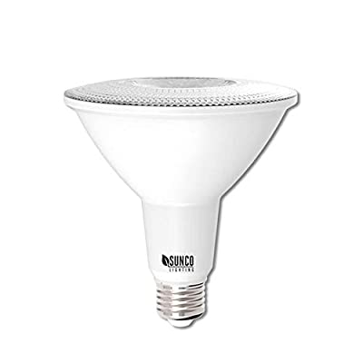 Sunco Lighting PAR38 LED Bulb 13W=100W, 4000K Cool White, 1050 LM, Dimmable, Indoor/Outdoor Spotlight, Waterproof - UL & Energy Star Listed