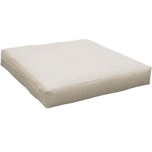 beo Cojín de salón LKP 60x60AU01, cojín para sofá o palé, con Cremallera y Tela Impermeable, Beige, 60 x 60 cm