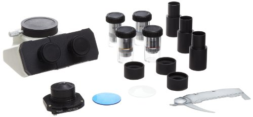 Frey Scientific University Microscope, Trinocular Head, 4X, 10X, 40XR, 100XR Objectives