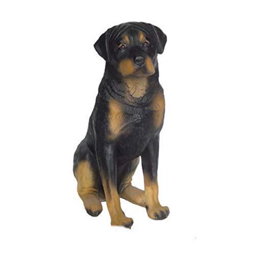 XL Premium Rottweiler in lebensgross 70cm hoch Hund Garten Deko Figur inkl. Spedition