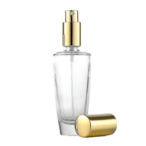Vaporisateur Parfum Vide Atomiseur Parfum Cosmétique Vaporisateur Ménage Vaporisateur Atomiseur Fine Brume Flacon Pulvérisateur à Main Gold