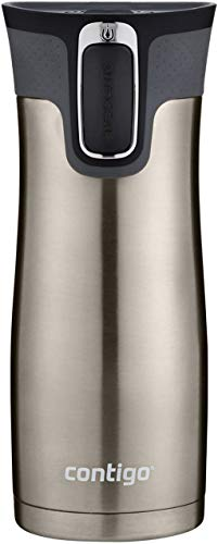 Contigo Stainless Steel Autoseal West Loop Vacuum-Insulated Travel Mug, 16 Oz