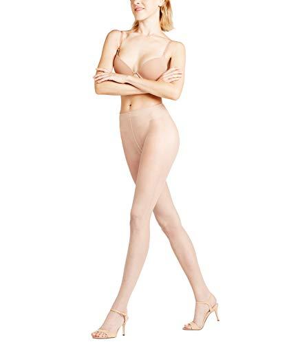 FALKE Damen Strumpfhosen Shelina 12 Denier Toeless - Ultra-Transparente, 1 Stück, Beige (Crystal 4409), Größe: L