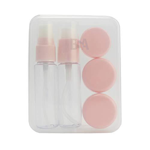 VENTUNE Kit de Voyage en Plastique pour Produits cosmétiques liquides Rose aéroport Avion