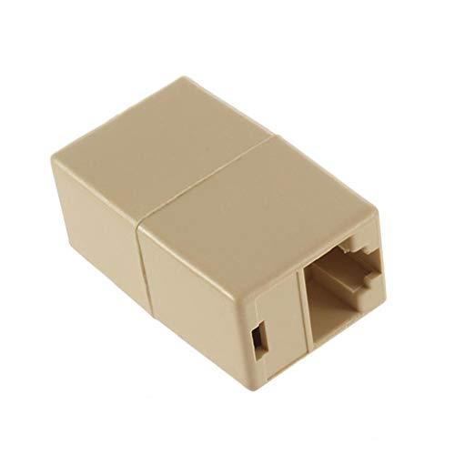 Netzwerk-Ethernet-LAN-Kabel F/F Buchse auf Buchse RJ45 Koppler gerade Modularer Inline-Stecker Extender Stecker Verlängerung Joiner Adapter für LAN CCTV Kamera Computer PC Netzwerk Ausrüstung Zubehör