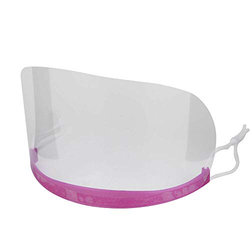 LWBTOSEE 50PCS Disposable Transparent Face Shield Mask, Permanent Makeup Shower Face Shields Visors, for Hairspray Salon Supplies and Eyelash Extensions Eye Eyelid Surgery Aftercare (1 purple part)