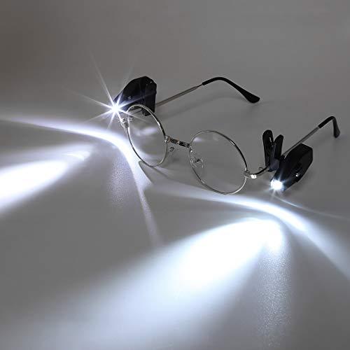 Hergon 2PCS LED degli occhiali clip flessibile libro di lettura, luci regolabile, sport all' aria aperta, luce \ \ N