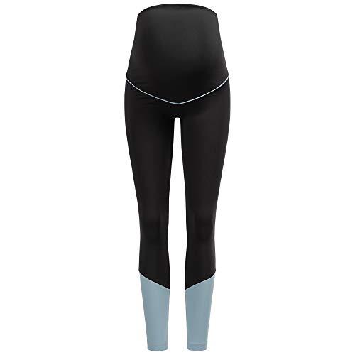 Herzmutter Umstands-Sport-Leggings – Umstands-Yogahose für Schwangere – Active-Umstandsleggings Sport für die Schwangerschaft – Umstands-Sporthose - 8300 (Schwarz, XL)