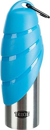 Trixie 24606 - Bebedero Viaje con Botella, 750ml, 1 unidad [colores surtidos]