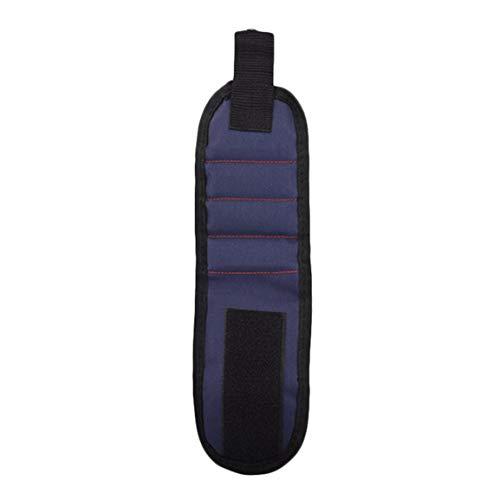 Kit de pulsera magnética magnética de tres filas 2 piezas incorporadas Imanes súper potentes Imanes fuertes para sujetar 1 pieza - Azul